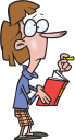 Royalty Free Clipart Image of a Woman With a Book