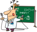 Royalty Free Clipart Image Royalty Free Clipart Image of a Teacher Trying to Figure Out How to Plug In a Cord