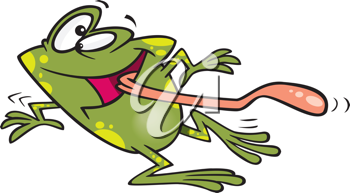 Royalty Free Clipart Image of a Happy Frog