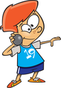 Royalty Free Clipart Image of a Boy Throwing a Shotput