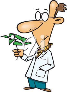 Royalty Free Clipart Image of a Biologist