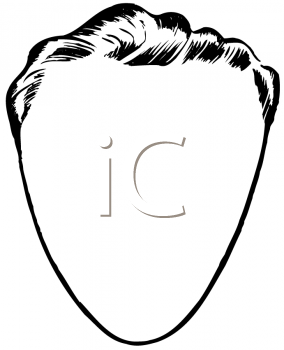 Royalty Free Clipart Image of a Blank Man's Face With a Narrow Chin