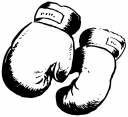 Royalty Free Clipart Image of Boxing Gloves