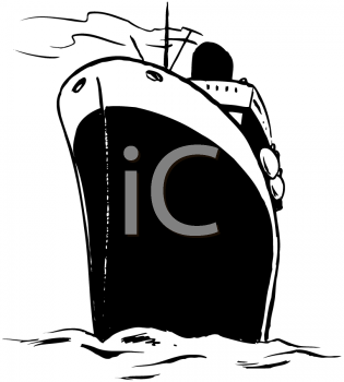 Royalty Free Clipart Image of an Ocean Liner