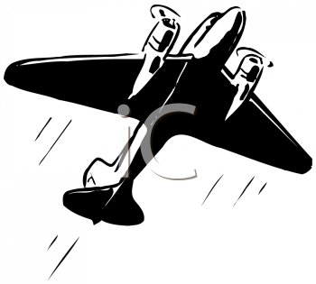 Royalty Free Clipart Image of a Plane