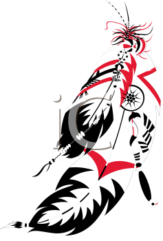 Royalty Free Clipart Image of Indian Feathers