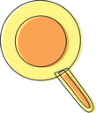 Royalty Free Clipart Image of a Frying Pan