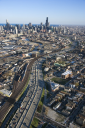 Royalty Free Photo of an Aerial View of Chicago, Illinois
