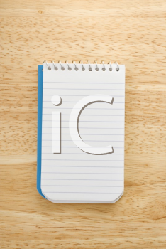 Royalty Free Photo of an Open Spiral Bound Notepad