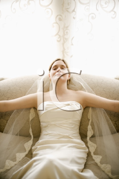 Royalty Free Photo of a Bride in a Tranquil State