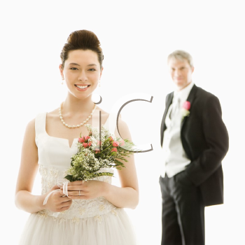 Royalty Free Photo of a Groom and Bride