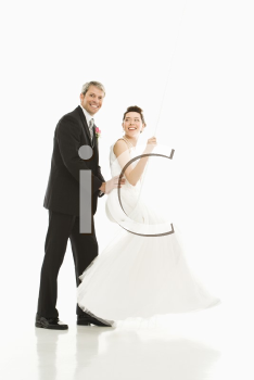 Royalty Free Photo of a Groom and His Bride