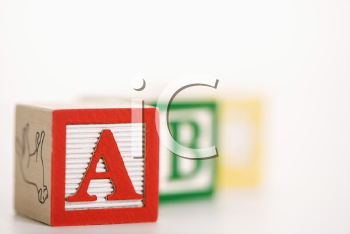 Royalty Free Photo of a Selective Focus of Alphabet Blocks