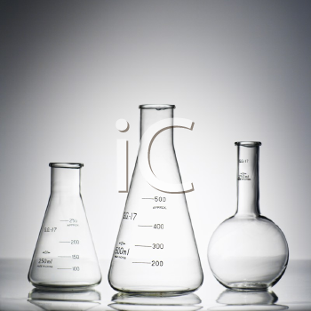 Royalty Free Photo of Glass Science Containers