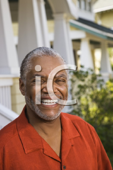 Royalty Free Photo of a Middle-aged Man Smiling