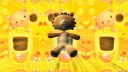 Royalty Free HD Video Clip of a  Rotating Teddy Bear With a Moving Border Background