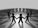 Royalty Free Video of a Circle of People Holding Hands
