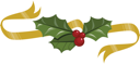 Royalty Free Clipart Image of a Holly Embellishment
