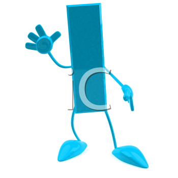 Royalty Free 3d Clipart Image of the Letter I Waving