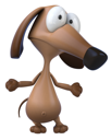 Royalty Free Clipart Image of a Dog Looking Stressed