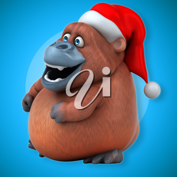 Fun Orangutan - 3D Illustration