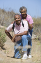 Royalty Free Photo of a Senior Couple on a Trail