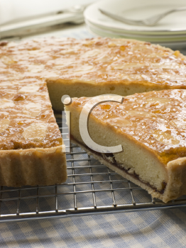 Royalty Free Photo of a Slice of Bakewell Tart