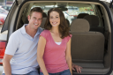 Royalty Free Photo of a Couple in a Van