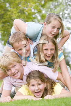 Royalty Free Photo of a Pile of Children
