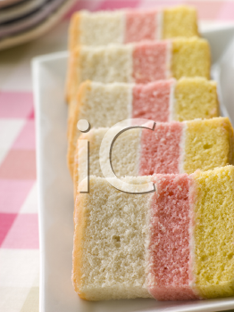 Royalty Free Photo of Striped Angel Cake