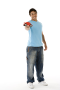 Royalty Free Photo of a Teenage Boy With a Toy Car