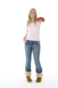 Royalty Free Photo of a Girl With a Model Car