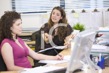 Royalty Free Photo of Two Women in an Office