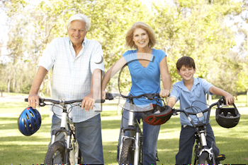 Royalty Free Photo of Grandparents With a Grandson