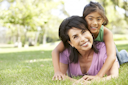 Royalty Free Photo of a Grandmother and Granddaughter