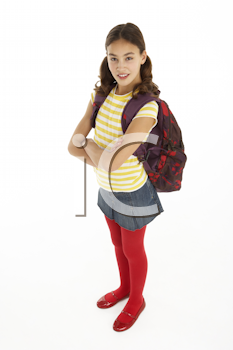 Royalty Free Photo of a Girl With a Backpack