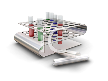 Royalty Free Clipart Image of Test Tubes