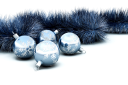 Royalty Free Clipart Image of Christmas Ornament and Tinsel