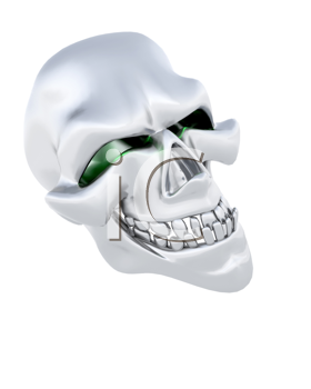 3D Render of a Halloween Evil Skull Head