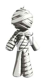 Mummy or Personal Injury Concept Standing