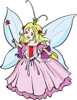 Royalty Free Clipart Image of a Fairy Princess
