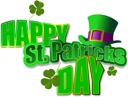 Vector of green hats and shamrocks for St. Patrick's Day
