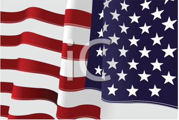 4th July – Independence day of United States of America. American flag with eagle image. Vector