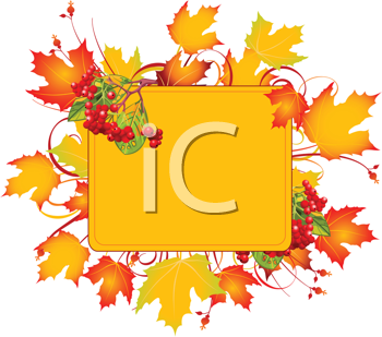 Royalty Free Clipart Image of a Fall Colour Frame