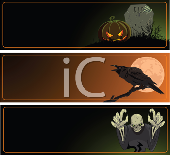 A collection of Halloween banners