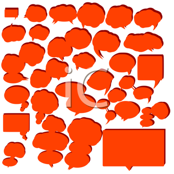 Variety of empty and stylized speech bubbles for text