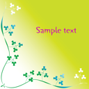 Royalty Free Clipart Image of a Clover Frame on Lime Background