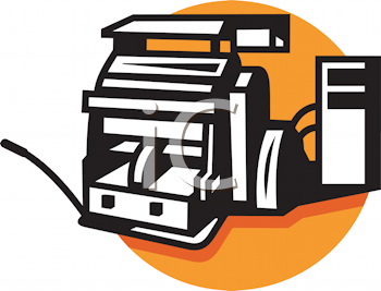 Royalty Free Clipart Image of a Cutting Machine