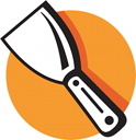 Royalty Free Clipart Image of a Putty Knife