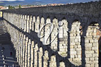 Royalty Free Photo of Ancient Aqueduct in Segovia